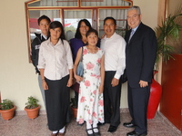 Pastor Miguel and Family, former students