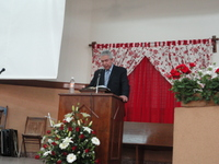 Michael preaching at Altacomulco