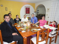 Enjoying fellowship with the Missionaries and their family