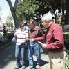 Michael handing out Gospel tracts in Puebla